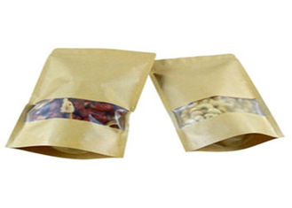 Three Layers Laminated Custom Printed Food Pouches Stand Up With Clear Window